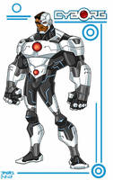 Cyborg toon style by jmqrz