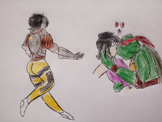 tracer overwatch kira tmnt by rosewitchcat