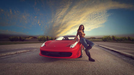 Girls n' Cars - Ralia by BubbleCloud
