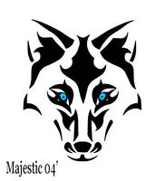Tribal Wolf 2 by Majestic2966
