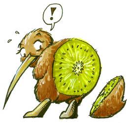 Kiwi Butt by lizardbeth