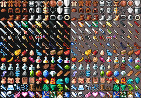 16x16 RPG Icons - Pack 1 - Free Sample by 7Soul1