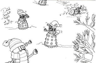Daleks Snowfight by caycay