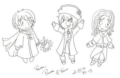 Silly Hetalia doodles by caycay