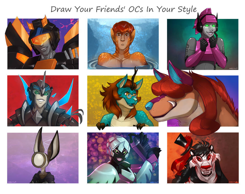 Draw Your Friends Ocs In Own Style Meme By Axel464 On Deviantart