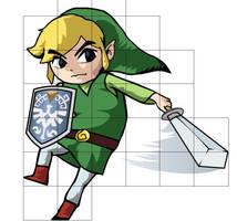 Link from The Legend of Zelda (Spirit tracks) by Wofk