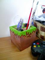 Minecraft block - Pencil holder by Wofk