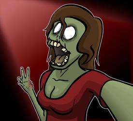 Zombie Selfie by Wofk