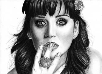 Katy Perry's portrait by Hilly16