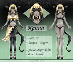 Kanna, the forgotten dragon by NevaViArt