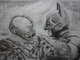 Bane Vs Batman by lolbenjo