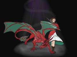 Light in the Dark.  -    Dragon Queen Fan Art by PonyRushy1098