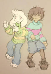 Them Durn Undertale Kids Again by gunmouth