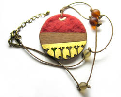 Natural Red Pendant by Amaltheea