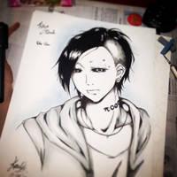 Tokyo Ghoul - Uta-san Fan Art by EleganceOfArt