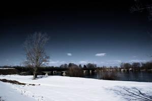 River Drava in hard light by carrolsmith