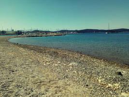 Boshana beach,  Biograd city by carrolsmith