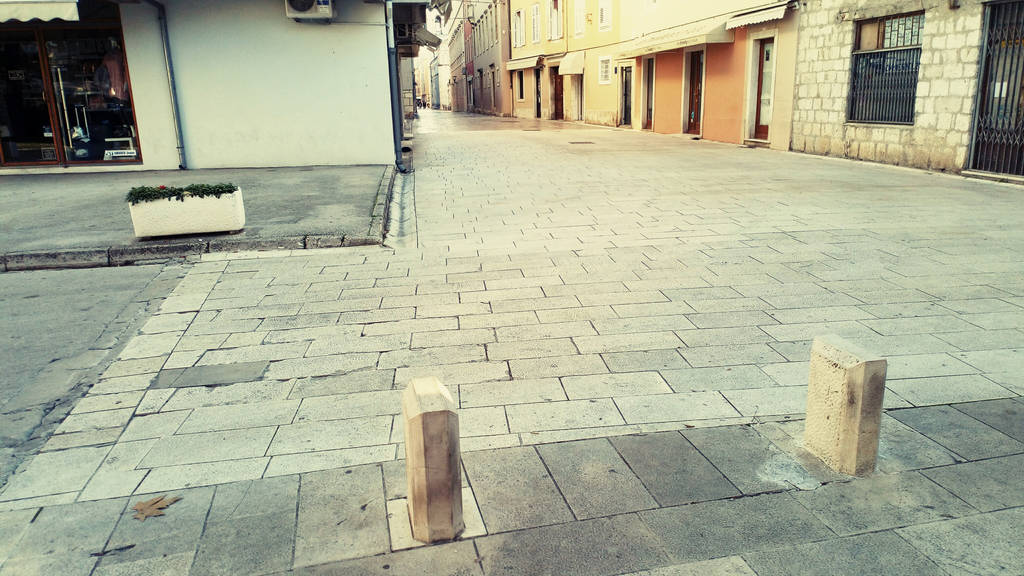 lonely streets of Zadar city by carrolsmith