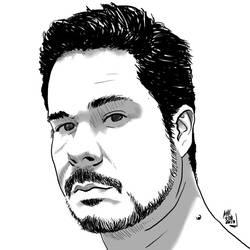 Self-portrait - Stark Version by marcio-orochi