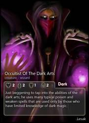 Occultist Of Dark Arts: Lesak by CardsOfWars