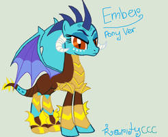 MLP Princess Ember (Pony Version) by RarityChitChatCity