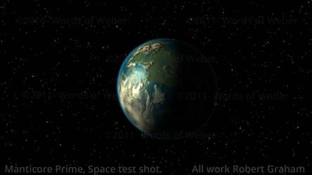 Manticore Space Test Shot by starfleet