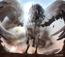 .:  Achilles the Pegasus  :.   Commission by Pashiino