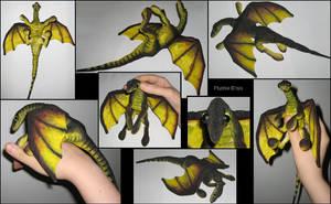 Baby dragon-plushie by IsisMasshiro