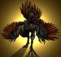 Caudipteryx by IsisMasshiro