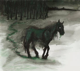 Green Flu horse by IsisMasshiro