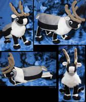Reindeer - plushie SOLD by IsisMasshiro