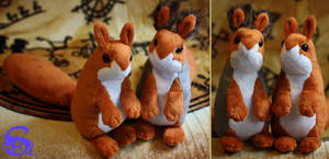Squirrel-plushies FOR SALE by IsisMasshiro