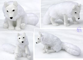 Arctic fox-plushie SOLD by IsisMasshiro