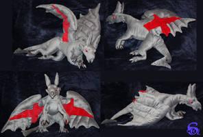 London dragon-plushie by IsisMasshiro