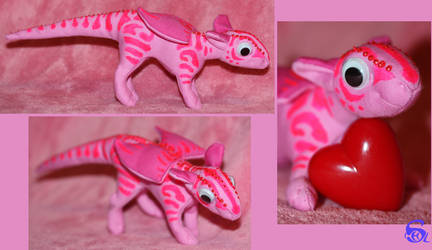 Pink dragon-plushie FOR SALE by IsisMasshiro