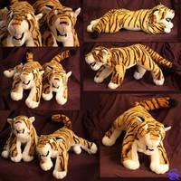 Tiger-plushies by IsisMasshiro