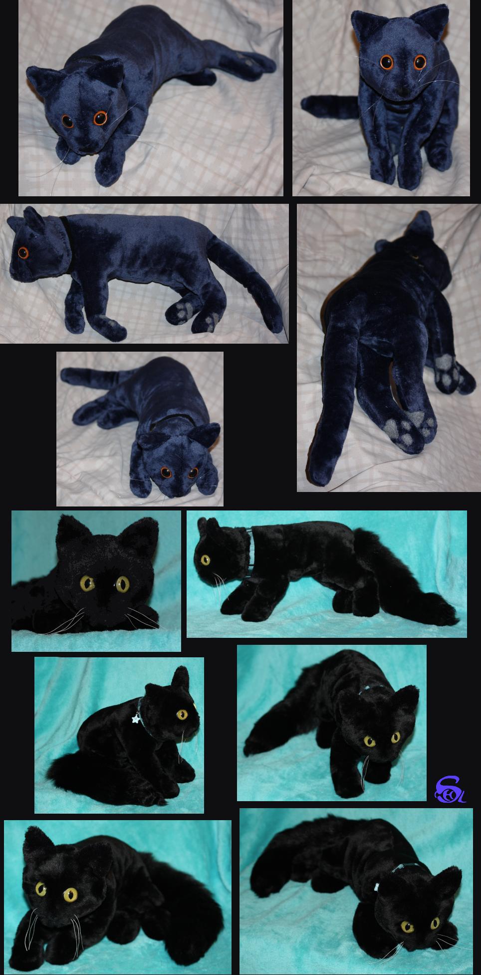 2 Cat-plushies FOR SALE by IsisMasshiro