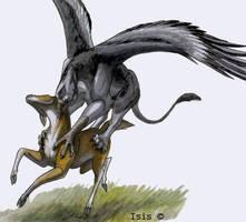 Gryphon's deerhunt by IsisMasshiro