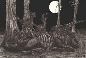 Raptors snack by IsisMasshiro
