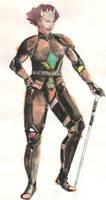 Iona (In Armor) by AjaxTelamoneis