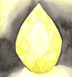 Yellow Gemstone (Pear Cut) by AjaxTelamoneis