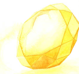Yellow Gemstone (Round) by AjaxTelamoneis