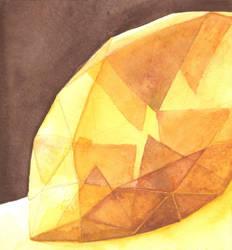 Yellow Gemstone with Brown Shadows by AjaxTelamoneis