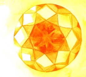 Orange Gemstone (Round) by AjaxTelamoneis