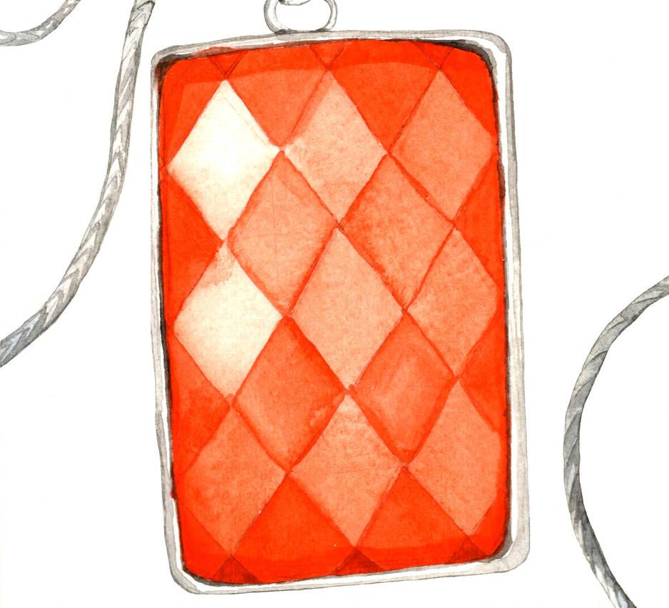 Orange Carnelian Pendant by AjaxTelamoneis