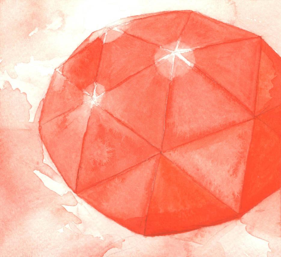Orange Gemstone (Round, Rose Cut) by AjaxTelamoneis