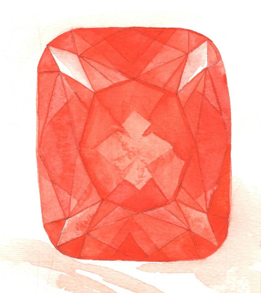 Red Gemstone (Cushion Cut) by AjaxTelamoneis