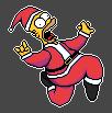 Merry Christmas! Homer Pixel Art 2013 by Sasuderuto