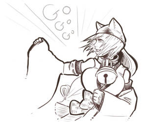 Sketch yokai: Bakeneko by cielociel