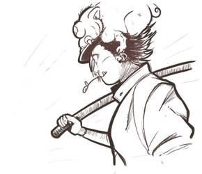 Sketch yokai: Gaki by cielociel